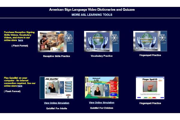 Screenshot of ASL Pro homepage website