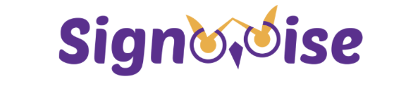 "White logo with purple text ""Sign - ise"" with the W turning into an owl graphic"