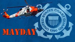 Getting rescued by the USCG (training)
