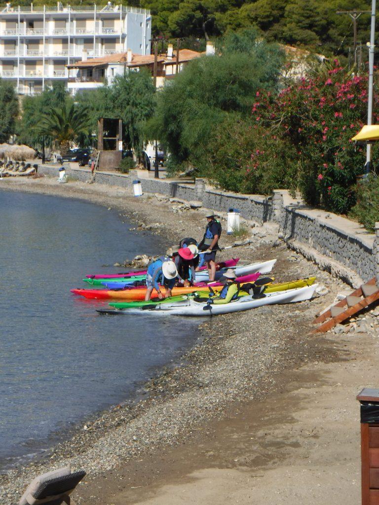 paddling Greece