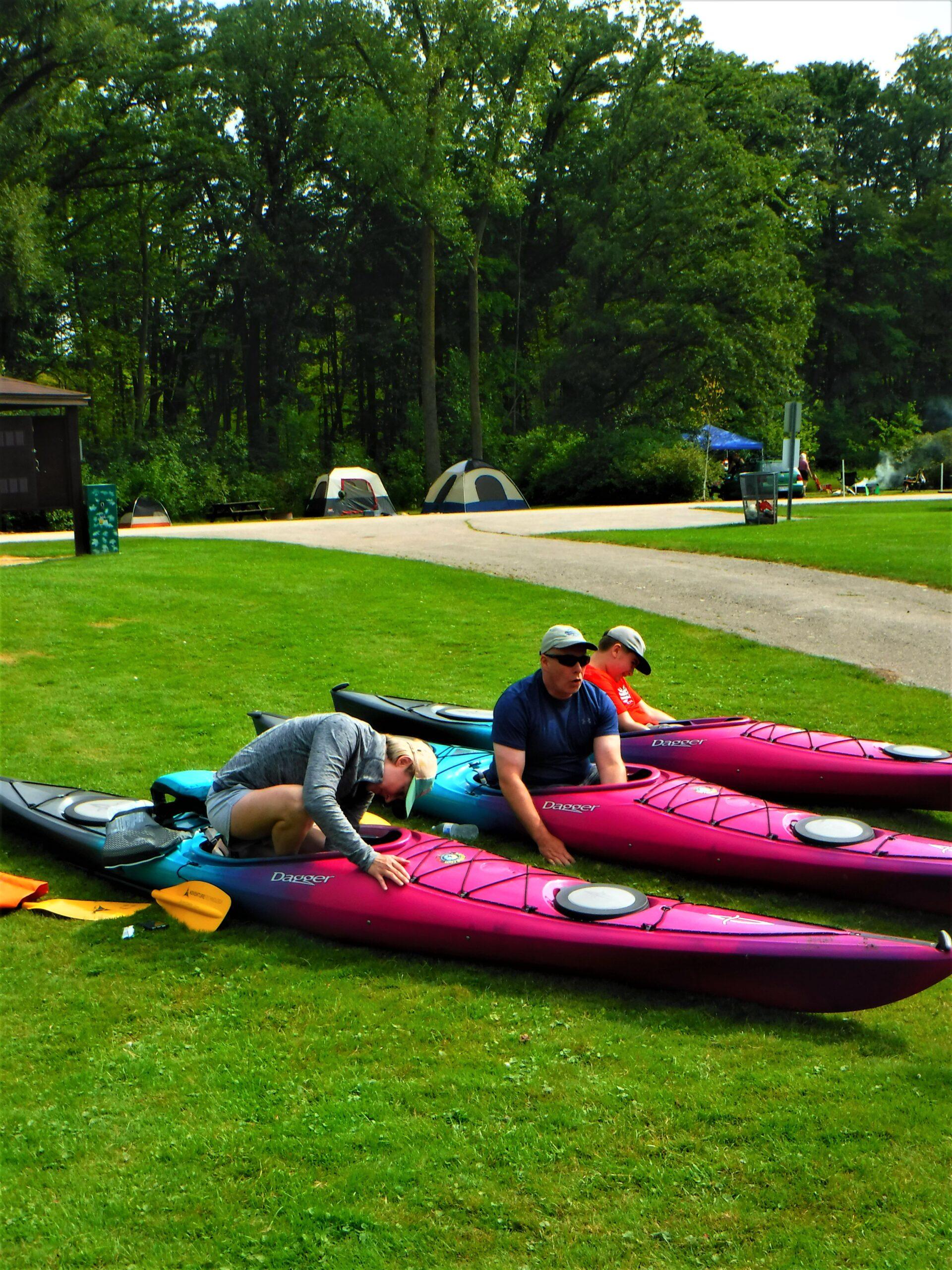 Kayak adjustment