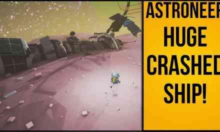 Huge Crashed Ship On Moon   Astroneer