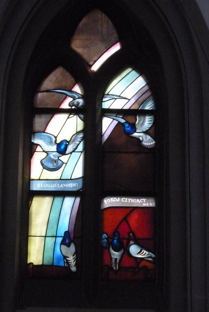 Stained glass windows (vitrage) in St. Mary's Church (Kościół Mariacki) in Katowice (6/6)