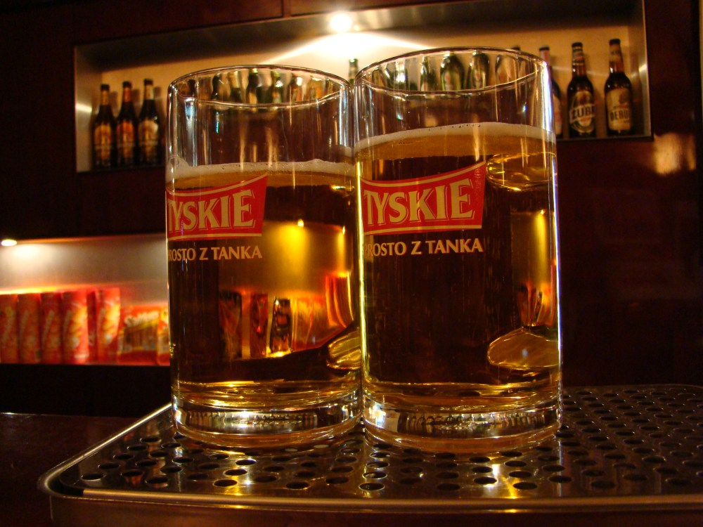 Tyskie brewery. 6 PLN: glass of beer + souvenir beer glass + 2 hours guided tour through facotry (1/6)