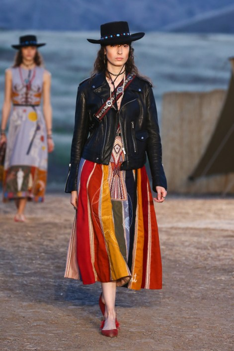 Mandatory Credit: Photo by Katie Jones/WWD/REX/Shutterstock (8818801ae) Model on the catwalk Dior Cruise Collection 2018 show, Runway, Los Angeles, USA - 11 May 2017