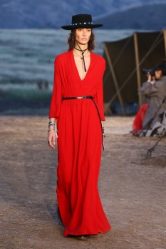 Mandatory Credit: Photo by Katie Jones/WWD/REX/Shutterstock (8818801ah) Model on the catwalk Dior Cruise Collection 2018 show, Runway, Los Angeles, USA - 11 May 2017