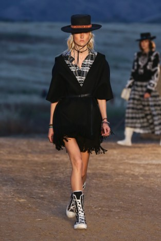 Mandatory Credit: Photo by Katie Jones/WWD/REX/Shutterstock (8818801bm) Model on the catwalk Dior Cruise Collection 2018 show, Runway, Los Angeles, USA - 11 May 2017