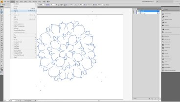Design a Flower Cutout in Adobe Illustrator to Use With Your Silhouette Machine Step4b