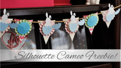 Easter Bunny Banner - Silhouette Cameo Freebie