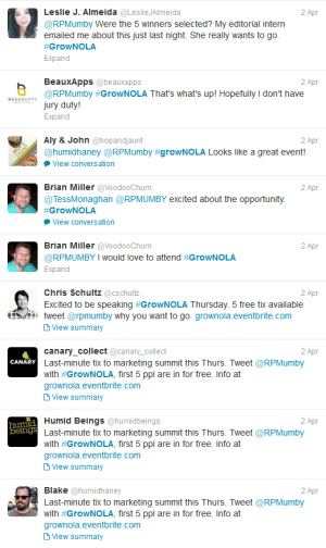 Tweets about Tweeting for GrowNOLA