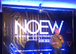 4.0 Schools CEO Matt Candler address the Education Pitch crowd at the 7th Annual New Orleans Entrepreneur Week.