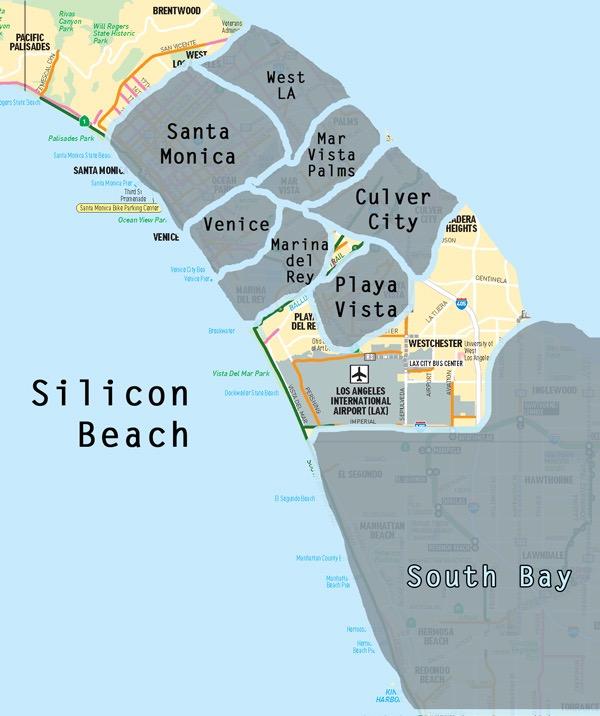 Silicon Beach Map