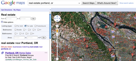 Death by Zillow? Google Retires Google Maps Real Estate Listings