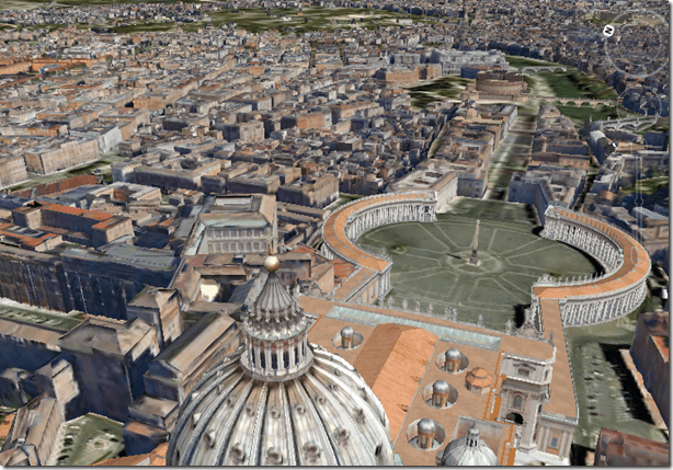 Modern Rome Goes 3D in Google Earth