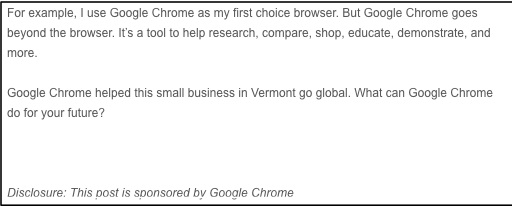 """This Post is Sponsored by Google Chrome"""""""