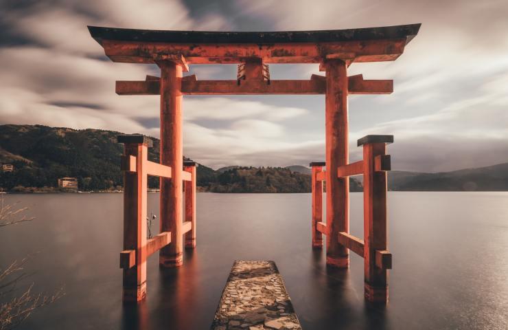 Beyond this gate God resides. Photo taken at Hakone, Japan.
