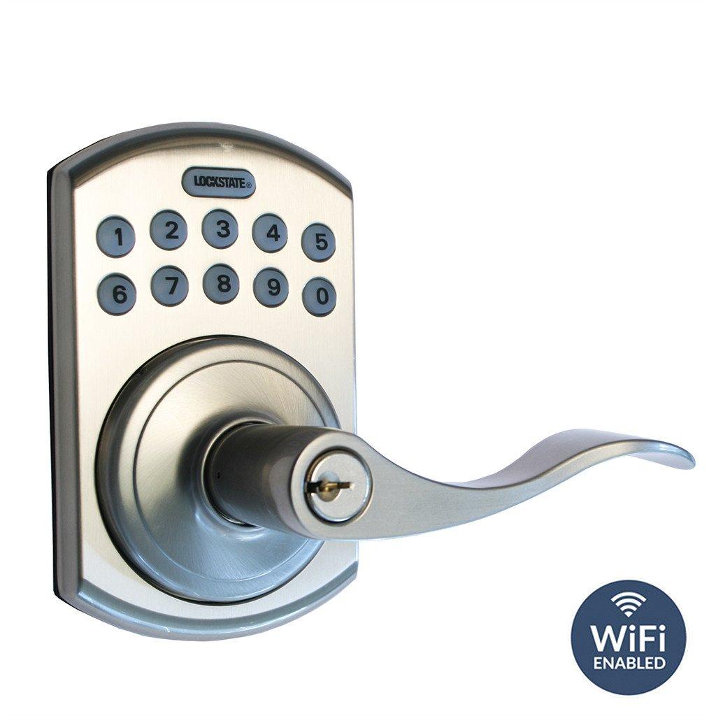 Wifi Lock Remotelock 5i B Lever Satin Nickel