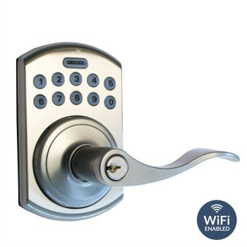 Remote Lock 5i B Lever Satin Nickel