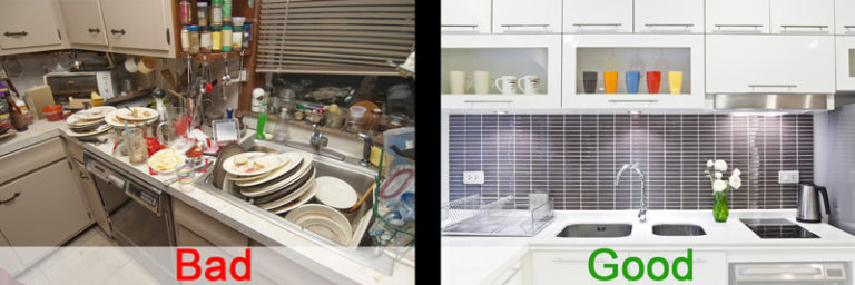 Good and bad photo comparison. Make sure to make great pictures for your AirBnB Rental.