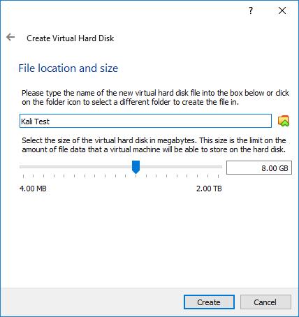 VirtualBox File Location and Size