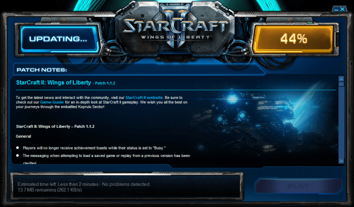 StarCraft Patch 1.1.2 Live