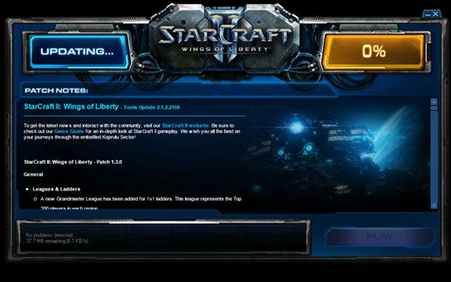 Starcraft 2 updating tools stuck