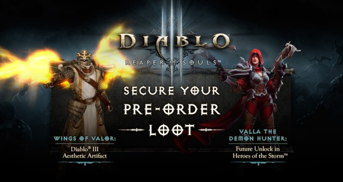Diablo 3 Pre-Order Bonuses