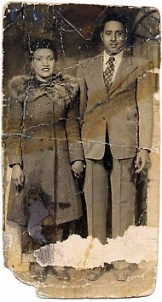 Henrietta and her husband, Day. They were raised together and were also first cousins.