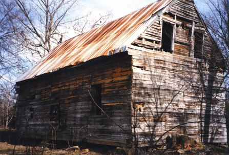 The home-house in Clover, Virginia. Previously, slave quarters.