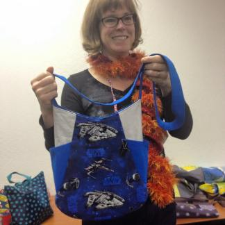 Diana shares her 241 Tote made from some pretty stellar Star Wars fabric.