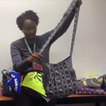 Michelle-Nichole shares her 241 Tote with us made from a cool graphic Dr. Who print.