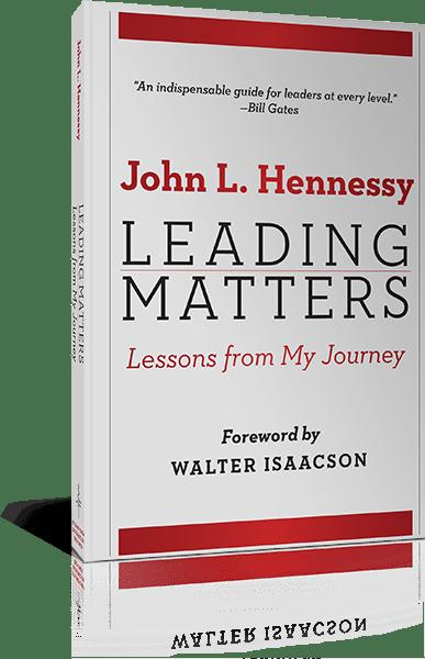John Hennessy, former President of Standford University and Exec. Dir. Knight Hennessy Scholars