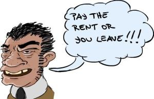 AA Bad Landlord Cartoon