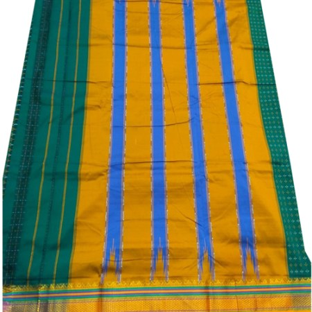 Ilkal Silk by Cotton Chikki Star Saree