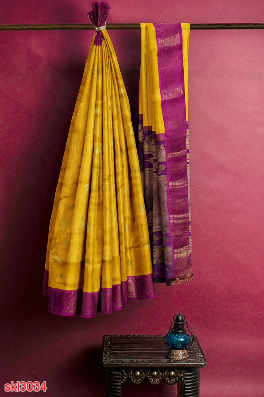 ILKAL HANDLOOM LUXURY DADI TIRKI WEDDING SAREE