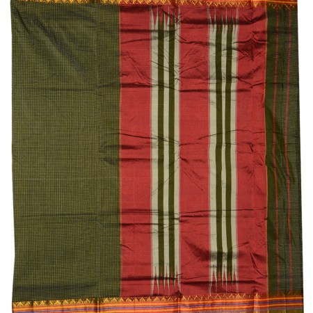 Ilkal Silk by Cotton Ragawali chikki Saree