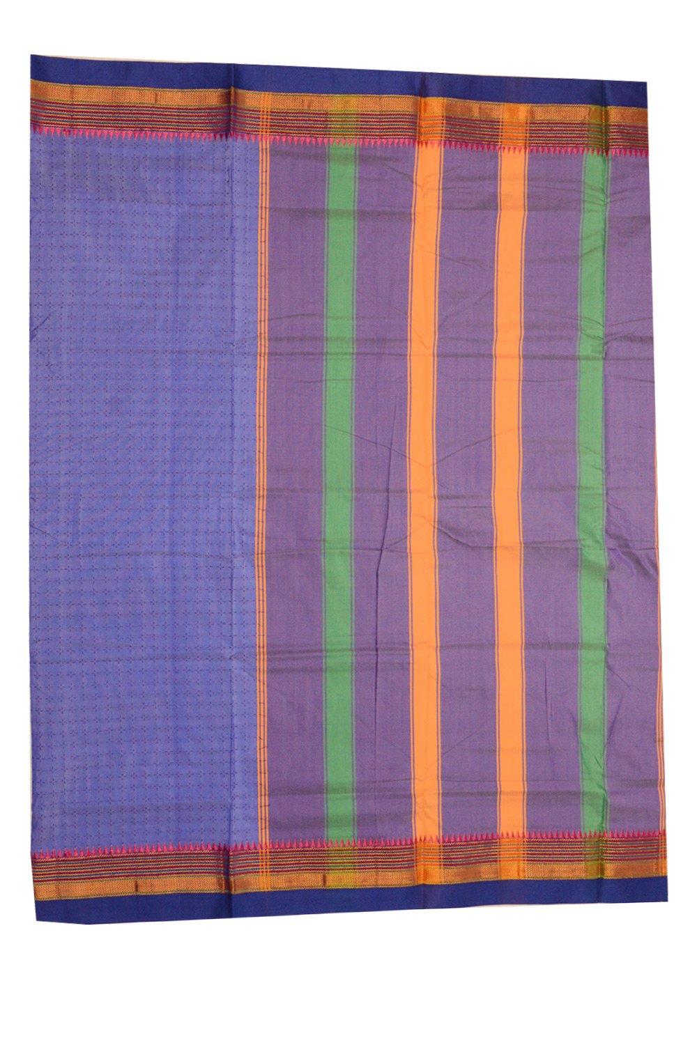 Ilkal Silk by Cotton Chukki Star Saree