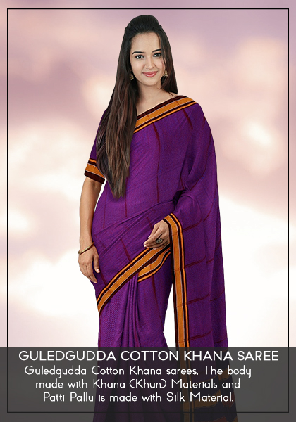 Guledgudda Cotton Khan Saree