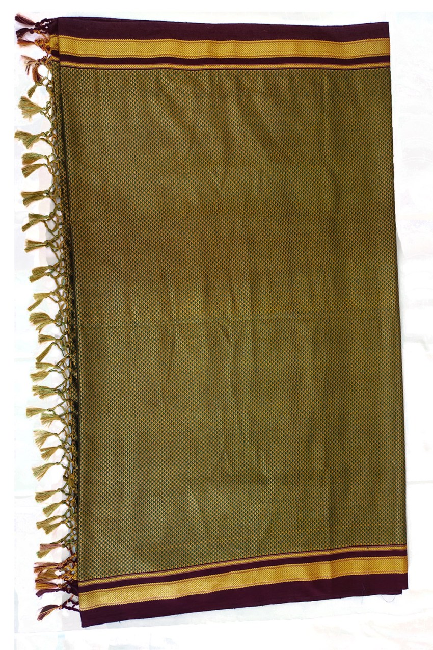 Guledgudda Khana Cotton Silk Fabrics Duppatta With Tassels