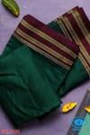 ILKAL HANDLOOM SILK BY COTTON SMALL CHACKS BHOOMI BORDER SAREES