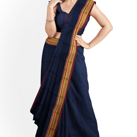 ILKAL HANDLOOM SILK BY COTTON SAREES