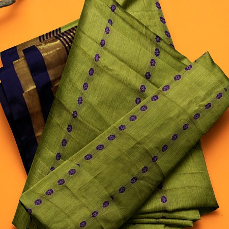 NARAYAN PETH MASRISE COTTON SAREE WITH PATTI PALLU