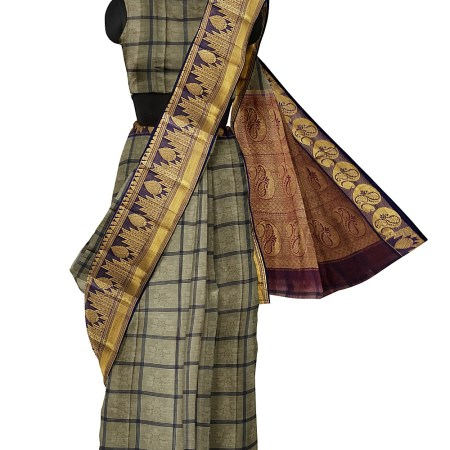 NARAYAN PETH COTTON SAREE WITH GRAND PALLU