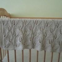 Updated Leafy Baby Blanket Knitting Pattern