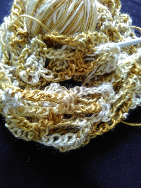Artfully simple cowl