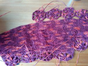 crochet dress progress