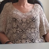 Diamond summer top - free crochet pattern (although not mine )