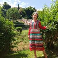 Crochet dresses made with Nadia Dunaeva