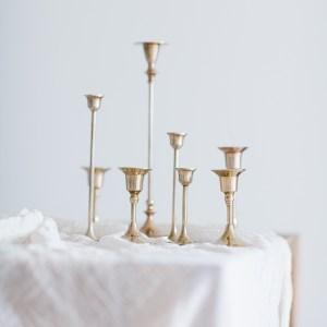Kerzenständer Messing Verleih