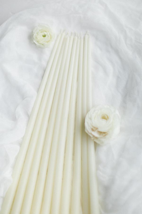 Kerzen Milchweiß 40cm